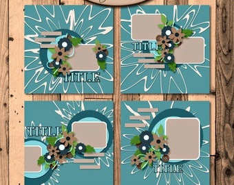 Digital Scrapbooking, Layout-Vorlagen: umgeschaut