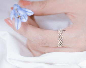 Sterling silver ring, Queen ring, made in VietNam