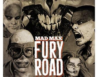 Mad Max - Fury Road movie poster colour art print Furiosa Immortan Joe