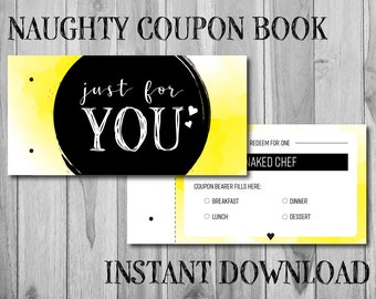 Naughty Coupon Book - Last Minute Gift