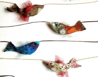 Fish on string modern bohemian hangings