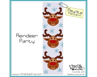 Peyote Pattern bracelet: Reindeer Party - INSTANT DOWNLOAD PDF - buy more, save more