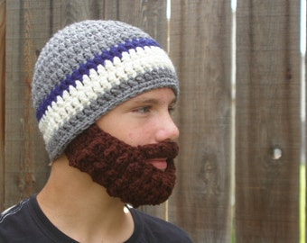 PreTeen ULTIMATE Bearded Beanie Grey/Navy Mix