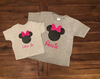 Girls Disney Minnie Mouse Personalized Shirt