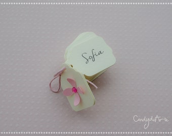 Tags for wedding favors-name ticket-Ivory color tags-baptism tag-Birthday-Wedding