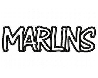 Instant Download Marlins Embroidery Machine Applique Design-574