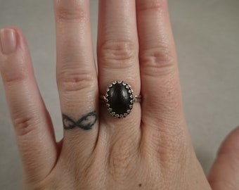 8.5 Carat Montana Almandine Garnet Sterling Ring Size 7 January Birthstone