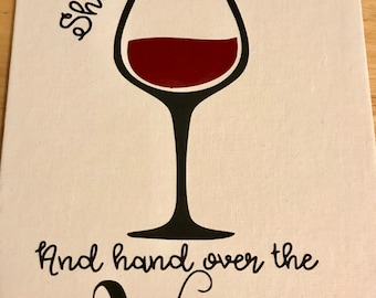 Hand over the wine sign