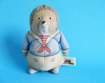 Vintage Willy Hedgehog from the Foxwood Tales Books Bean Bag Plush Toy Works Stuffed Animal 1980s 1988 Cynthia Paterson