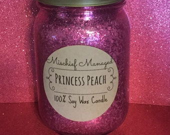 Princess Peach 100% soy wax candle