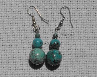 Pendants BCL.0450 on earrings genuine turquoise beads