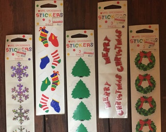 Autocollants de Mme Grossman / Stickers pour Noël / neuf dans emballage / plusieurs Styles disponibles