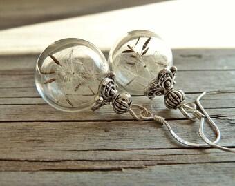 """Earrings """"Dandelion"""" 925 Silver"""