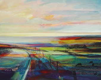 Open Views - The Road from Oxenhope. ( Limited Edition Print Size 1 )