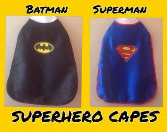 Batman, Batman Cape, Superman Cape, Superhero Cape,  Spiderman Cape, SuperGirl, Black Cape, Blue Cape, Superman, SUPERHEROS