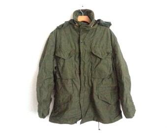 Vintage Army Field Jacket Military Surplus Men's Medium