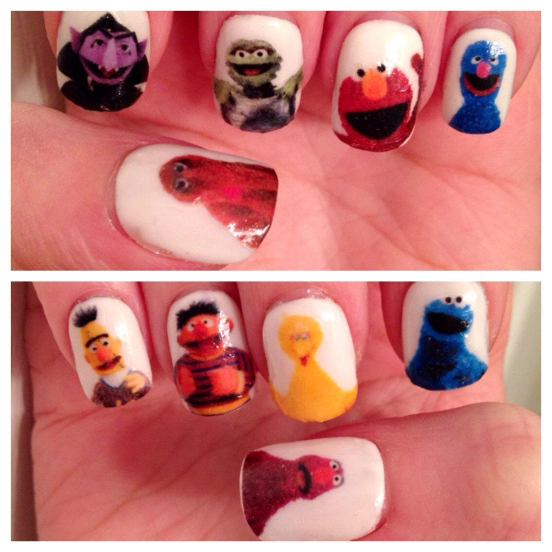 Sesame Street Nail Decals