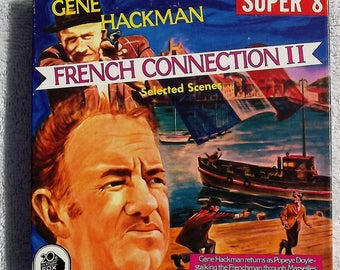 FRENCH CONNECTION II starring Gene Hackman - Popeye Doyle - Super 8 Ken Films - B/W - Silent - 200 ft. Reel