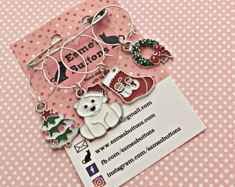 Christmas wine glass charms, wine glass charms, Christmas gift for him, for her, Birthday gift, for teacher, for friend,