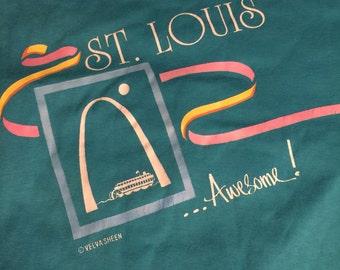 1980's St. Louis Missouri Poly/Cotton Blend T Shirt