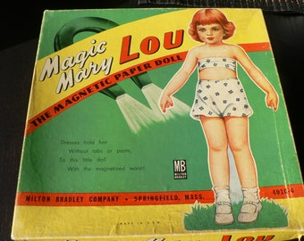 Magic Mary Lou - 1950s Magnetic Paper Doll