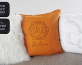 Nursery throw pillow with...