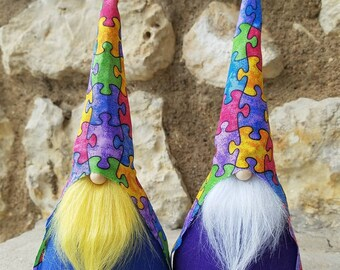 Autism awareness gnome, autism gnome, Tomte, Nisse, garden Gnome, tomte nisse, Swedish Gnome, summer decoration, Gnome, swedish tomte,