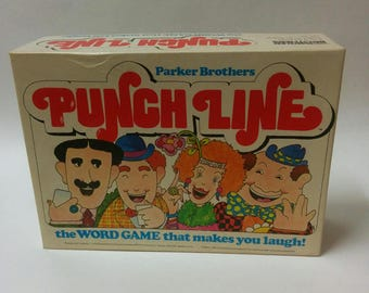 PUNCHLINE Board or Party Game Vintage 1978 Comedy Parker Brothers Collectible Complete Set