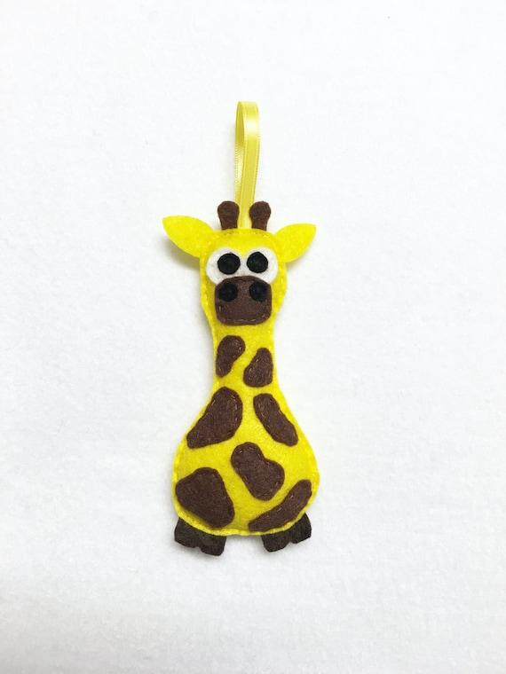 Giraffe Ornament, Christmas Ornament, Gertie the Giraffe, Christmas Decoration, Felt Ornament, Felt Animal