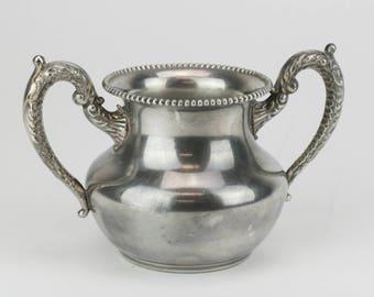 """4"""" Silver Plate Sugar Pot"""