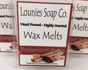 Potpourri Spice  Wax Melt 3oz