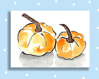Autumnal Squashes Greetings Card