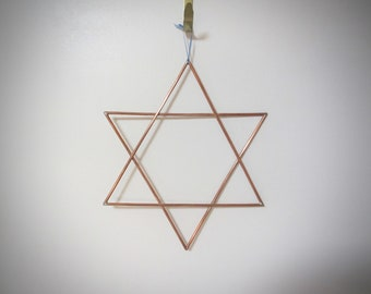 Star of David Wall Art | Jewish Wall Decor | Copper 6 point Star | Magen David decor | Shield of David wall hanging