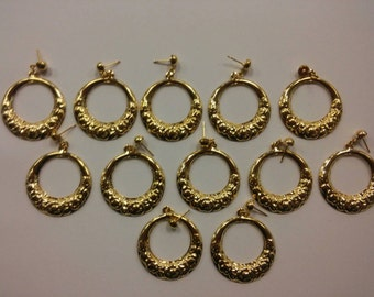 6 Pairs of Goldplated Hoop Earrings