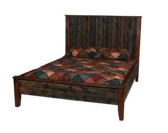 Aspen Stickley Forest Log Bed Reclaimed Wood Bed Colorado