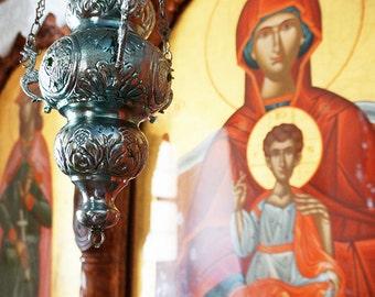 Greek Orthodox Incenser - Wall Decor - Fine Art Photography Print - Greece, Religious, Culture