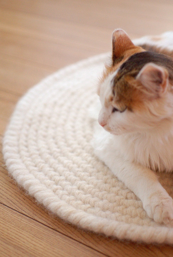 Cat Mat   Crochet Cat Bed   Wool Cat Bed   Crochet Round Rug   Pet Sleeping  Place Amazing Pictures