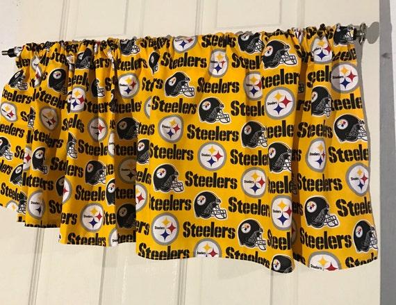 Pittsburgh Steelers Nfl Football Navy Curtain Valance