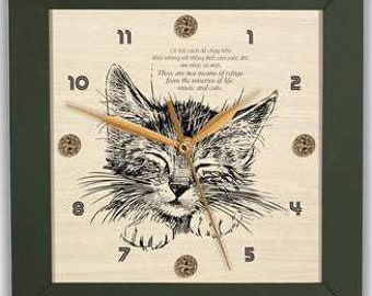 CAT ART CLOCK