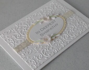 Quilled sympathy card, handmade, paper quilling flowers