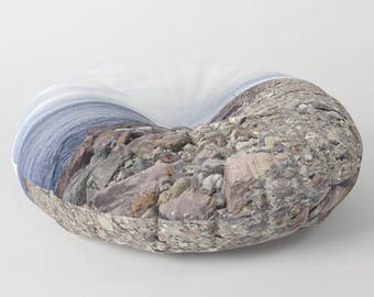 Floor Pillows - Rockaway Beach Oregon Round or Square Floor Cushion - Oregon Beach - Beach Theme - Decorative Pillow - Made to Order