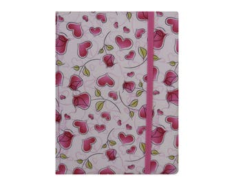 Kindle Case Cover Kindle Paperwhite Case Cover Amazon Kindle Fire HD 7 8 Nook Glowlight Plus Case reMarkable Tablet Case Pink Hearts Rose