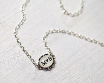 Two initials necklace, Сouples necklace, Couples initial necklace, Personalized gift for girlfriend, necklaces for couple, heart necklace