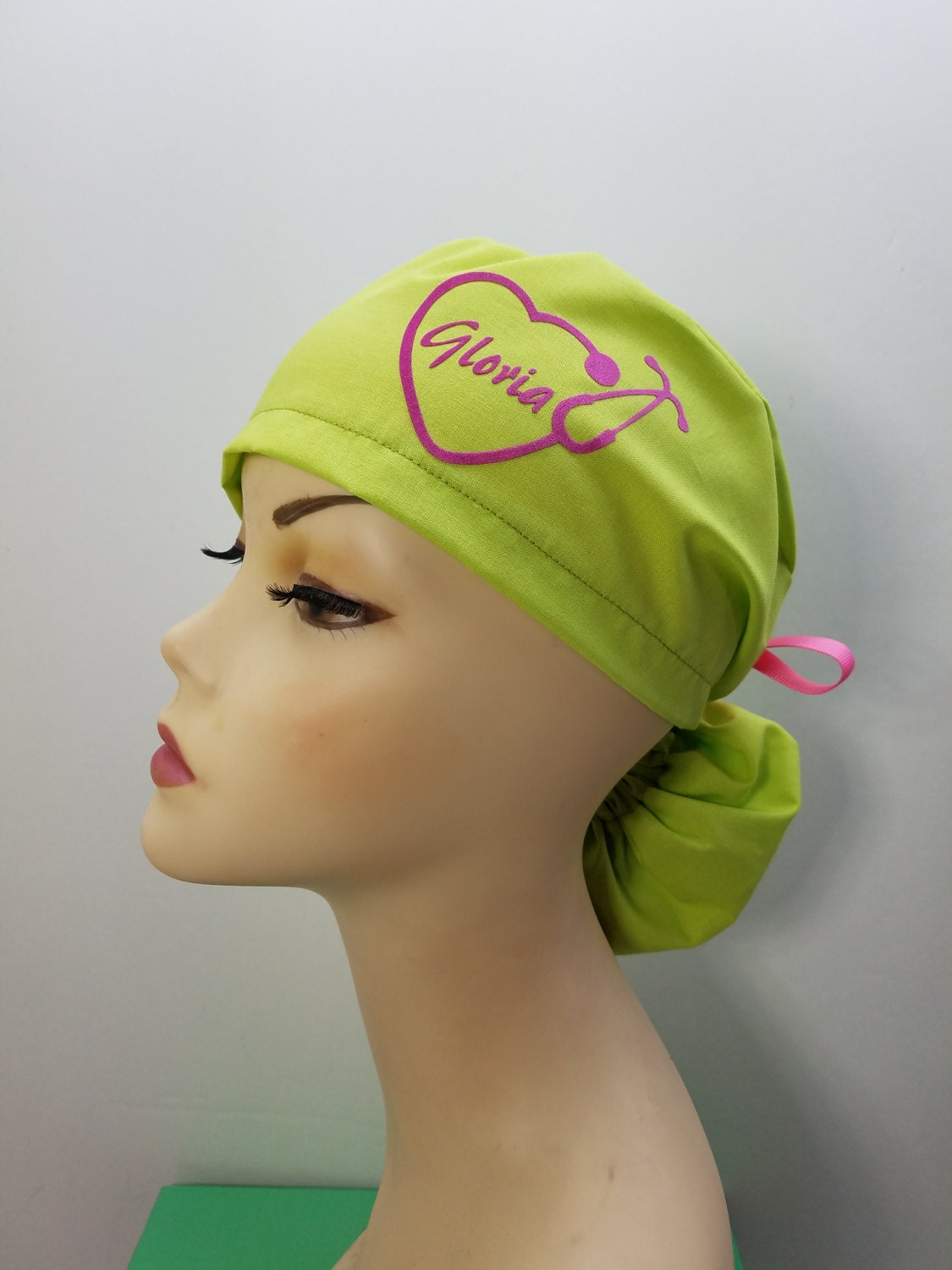 Surgical Cap Ponytail Stile Scrub Caps Personalized
