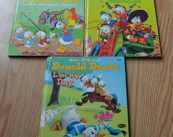 1970's Walt Disney's Donald Duck's Whitman Tell A Tale Books