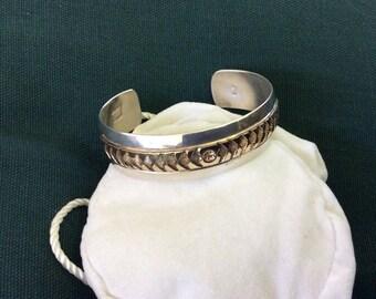 Beautiful Sterling and 12kt, Goldfilled Navajo Artist Verna Blackgoat Bracelet
