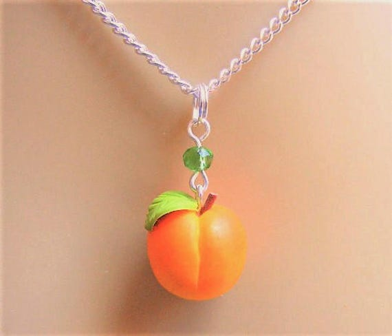 in monroe pendant yellow peach necklace jewelry alex normal product metallic lyst