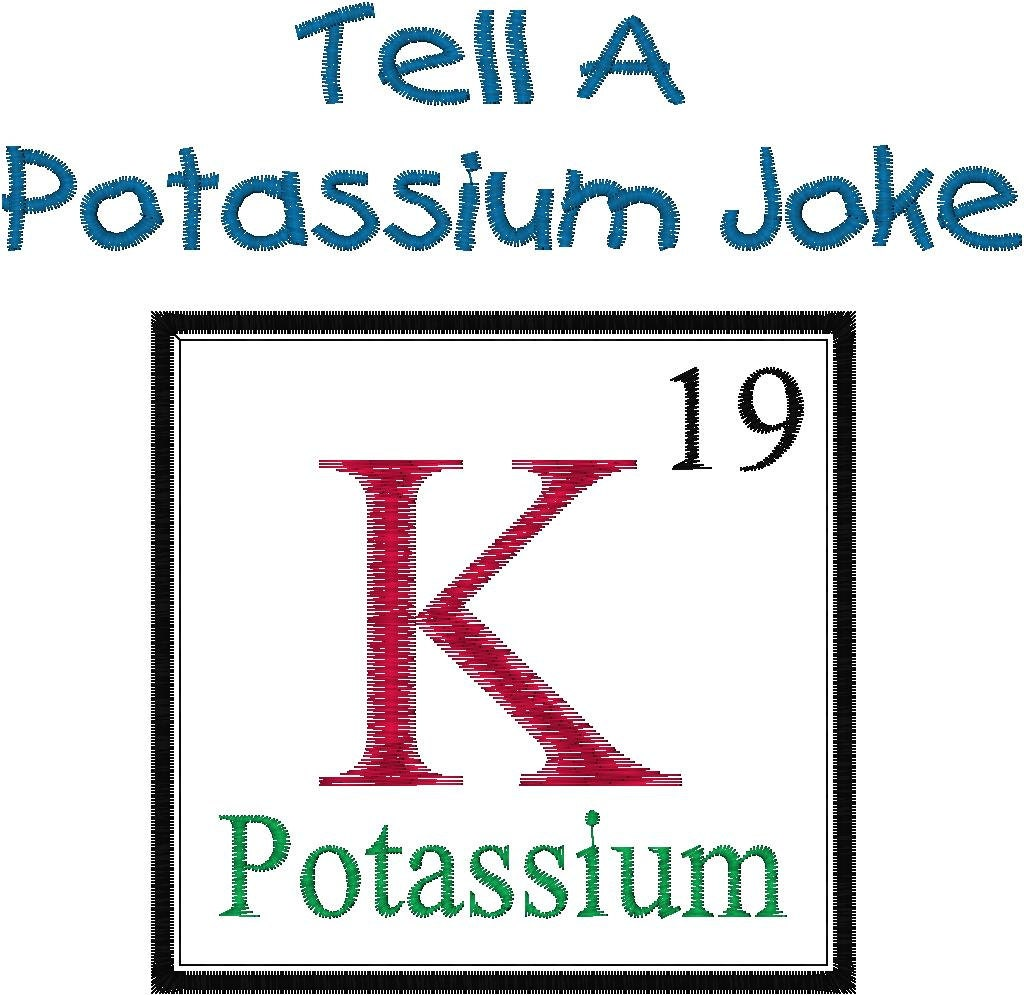 Periodic table joke design potassium embroidery design zoom gamestrikefo Image collections