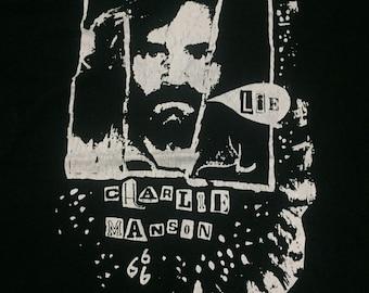 Lie Charlie Manson 666 True Original t shirt 1990's M