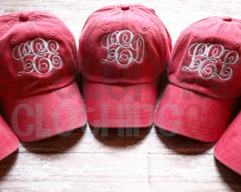 Monogram Hat, Monogram Baseball Cap, Personalize Baseball Hat, Monogram Bridesmaid Gift, Embroidered Ball Cap, Monogrammed Gift